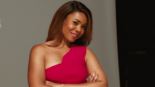 Regina Hall with Roland Mouret Lyford Dress in Girls Trip