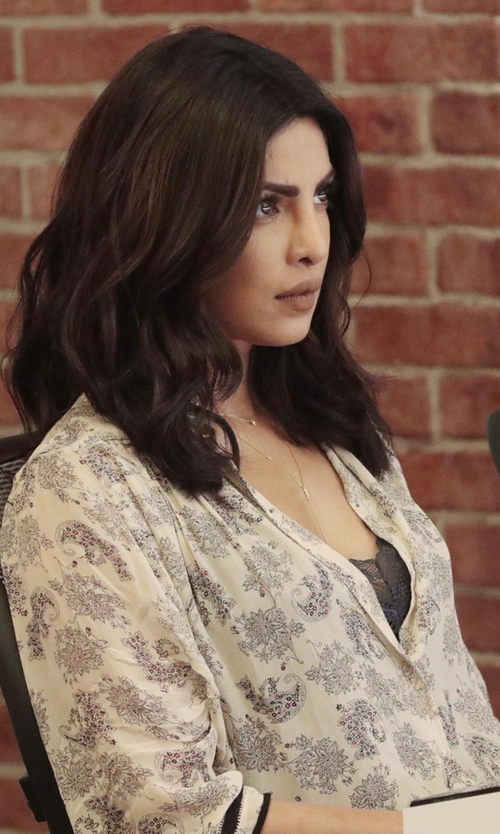 Priyanka Chopra with Joie Shalyn Top in Quantico