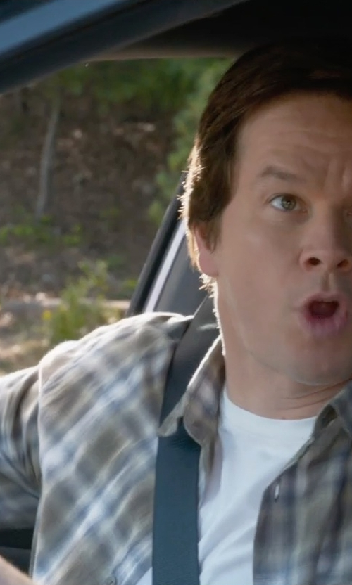 Mark Wahlberg with Robert Talbott Plaid Woven Dress Shirt in Ted 2