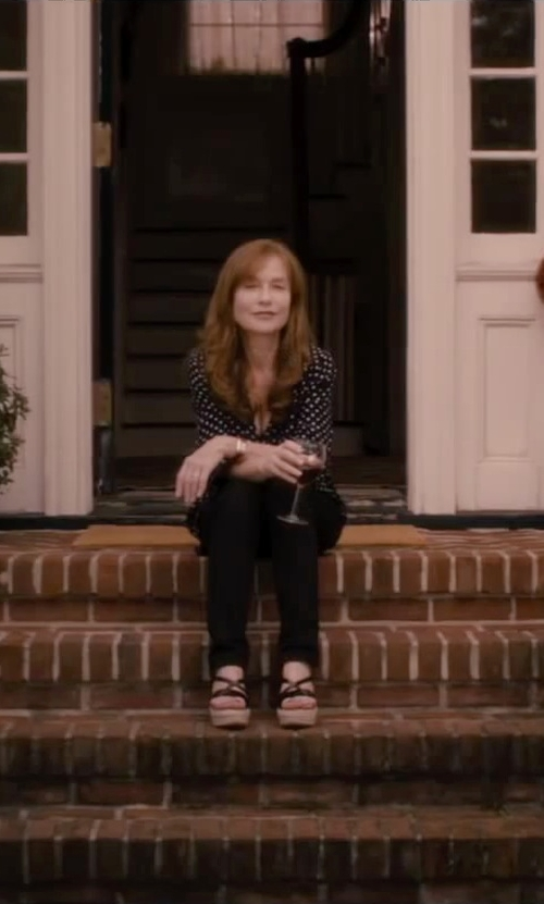 Isabelle Huppert with Equipment Slim Signature Blouse in The Disappearance of Eleanor Rigby