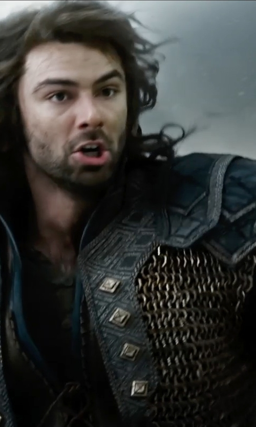 Aidan Turner with Ann Maskrey & Bob Buck (Costume Designer) Custom Made Kili Costume in The Hobbit: The Battle of The Five Armies