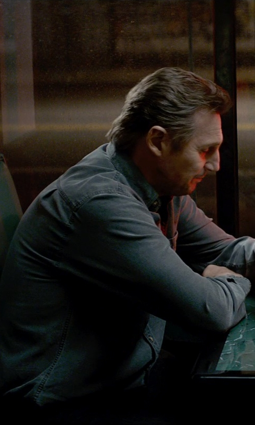 Liam Neeson with Armani Collezioni Modern Fit Stretch Sport Shirt in A Walk Among The Tombstones