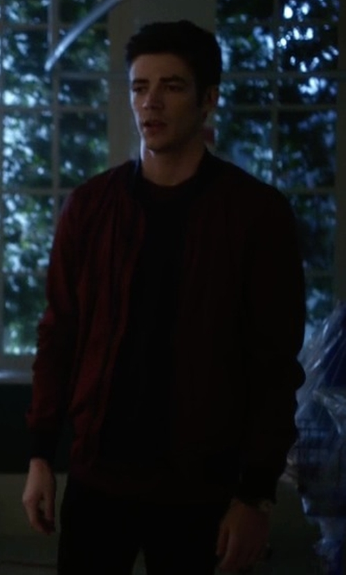 Grant Gustin with G-Star Raw Sham Bomber Jacket in The Flash