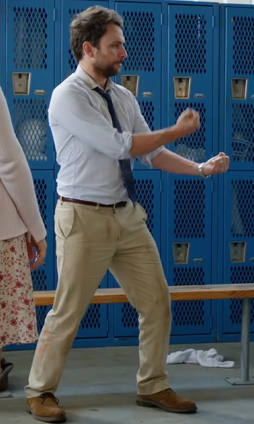 Charlie Day with Peter Millar Raleigh Washed Twill Pants in Fist Fight