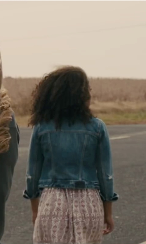 Jaz Sinclair with Blank Denim Jean Jacket in Paper Towns