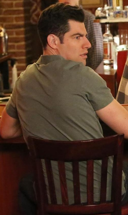 Max Greenfield with Tommy Hilfiger Short-Sleeved Cotton-Piqué Polo Shirt in New Girl