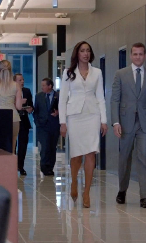 Gina Torres with Christian Louboutin So Kate Patent Leather Pumps in Suits