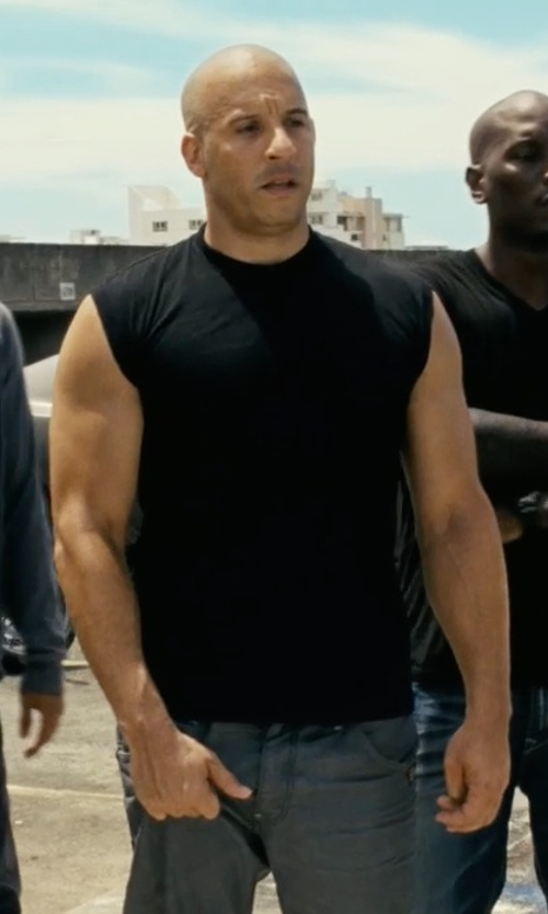 Vin Diesel with T By Alexander Wang Cotton Muscle Tank Top in Fast Five