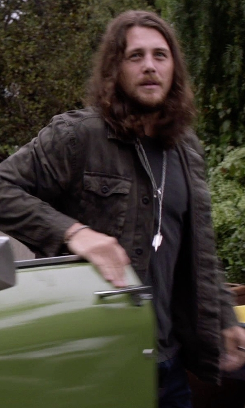 Ben Robson with AllSaints Baroda Denim Jacket in Animal Kingdom