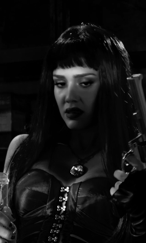 Jessica Alba with L'Agent by Agent Provocateur Penelope Corset in Frank Miller's Sin City: A Dame To Kill For