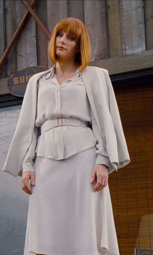 Bryce Dallas Howard with Chloé Two-Pocket Crepe Blazer in Jurassic World