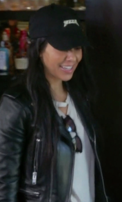 Kourtney Kardashian with Chaser LA Deconstructed T-Shirt in Keeping Up With The Kardashians
