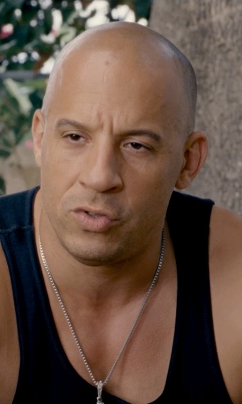 Vin Diesel with Polo Ralph Lauren Classic Cotton Tank Top in Fast & Furious 6