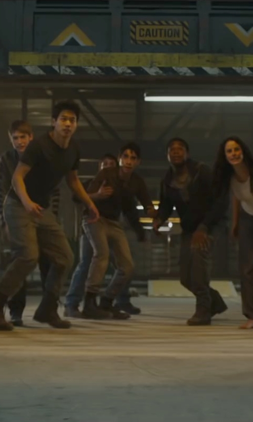 Alexander Flores with Robert Wayne Elbio Combat Boots in Maze Runner: The Scorch Trials