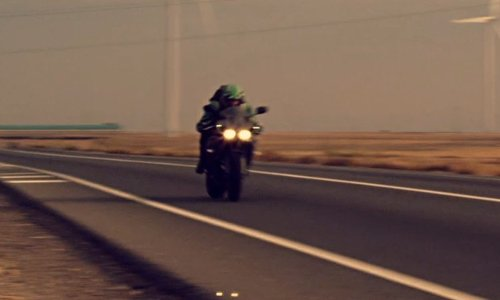 Richard Cabral with Yamaha YZF-R1 Motorcyle Bike in The Counselor