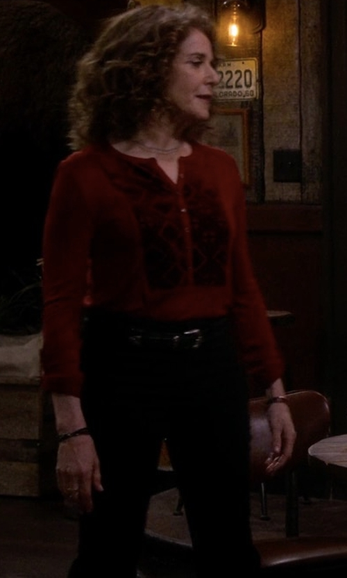 Debra Winger with Rebecca Taylor Straight Cropped Suit Pants in The Ranch