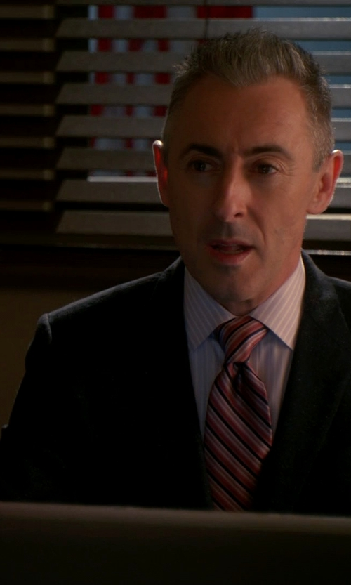 Alan Cumming with Calvin Klein Wool Slim X Fit Suit in The Good Wife