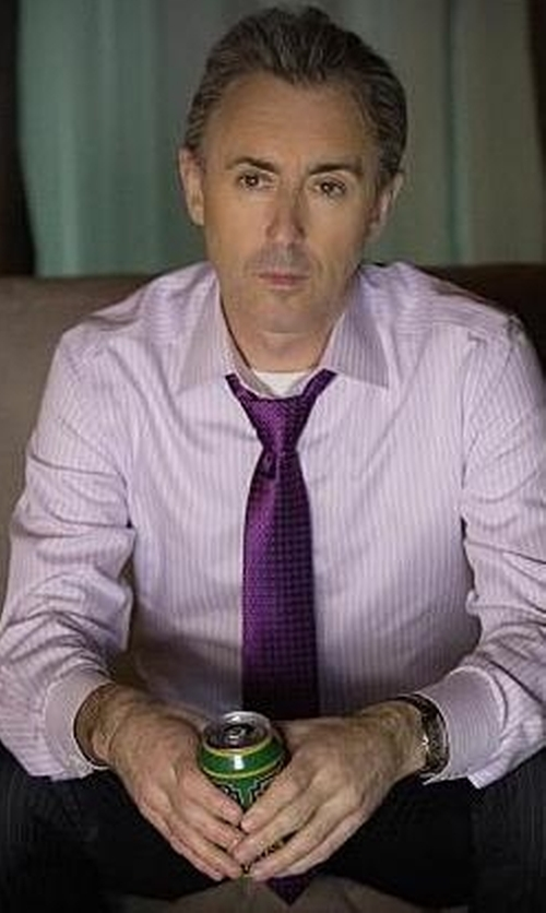 Alan Cumming with Ted Baker London 60s Squares II Silk Tie in The Good Wife