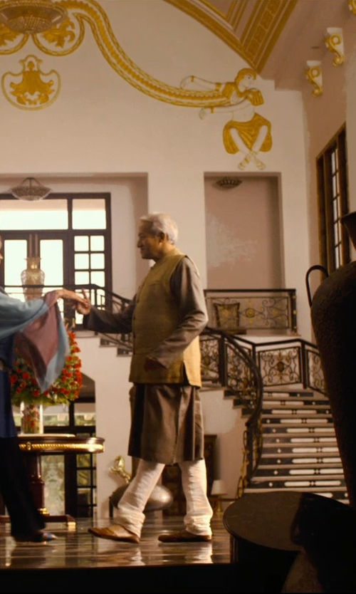 Richard Gere with Handcrafted Luxury Jodhpur's Khussa Shoes in The Second Best Exotic Marigold Hotel