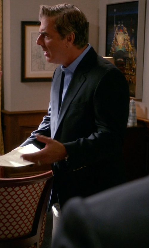 Chris Noth with Tagliatore Two Piece Suit in The Good Wife