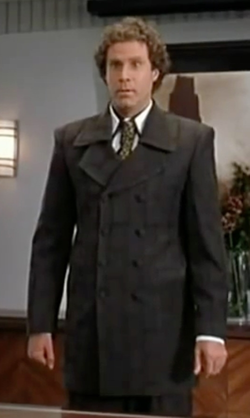Will Ferrell with Kenneth Cole New York Egan Double-Breasted Over Coat in Elf
