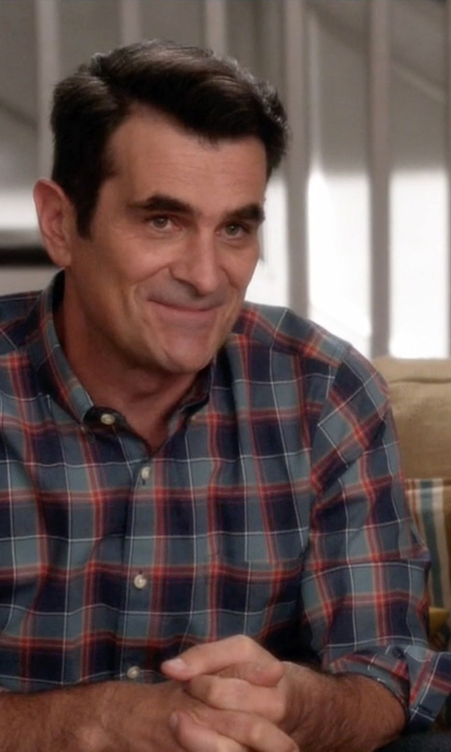 Ty Burrell with J. Crew Secret Wash Shirt in Modern Family