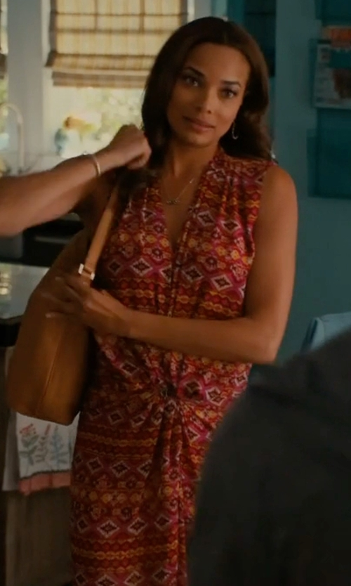 Rochelle Aytes with Kensie Printed Maxi Dress in Mistresses