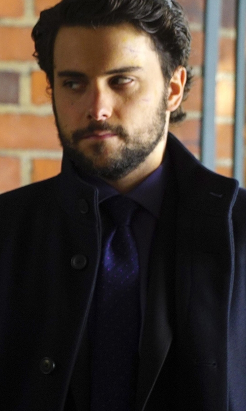 Jack Falahee with Eton Pin Dot Silk Tie in How To Get Away With Murder