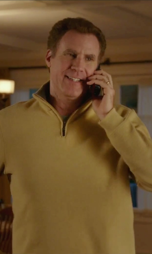 Will Ferrell with Neiman Marcus	 Cashmere Cloud Quarter-Zip Sweater in Daddy's Home