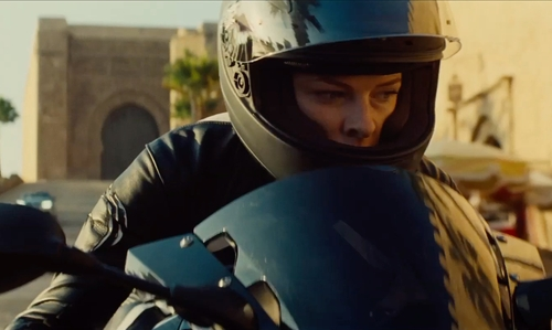 Rebecca Ferguson with BMW S 1000 RR Motorcycle in Mission: Impossible - Rogue Nation