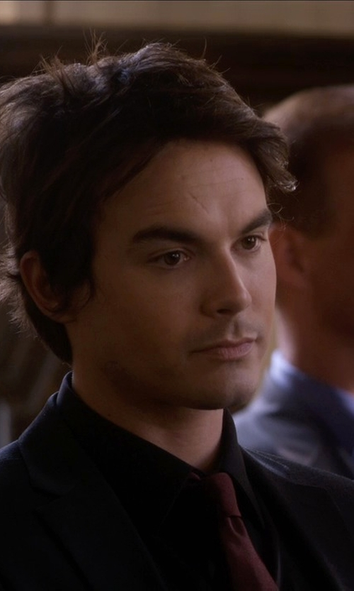 Tyler Blackburn with Z Zegna Trim Fit Wool Suit in Pretty Little Liars