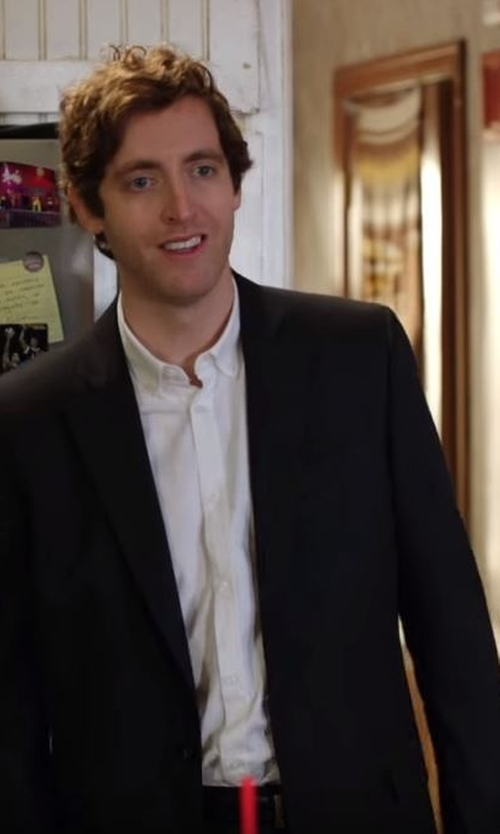 Thomas Middleditch with Kenneth Cole Reaction Solid Slim-Fit Suit in Silicon Valley