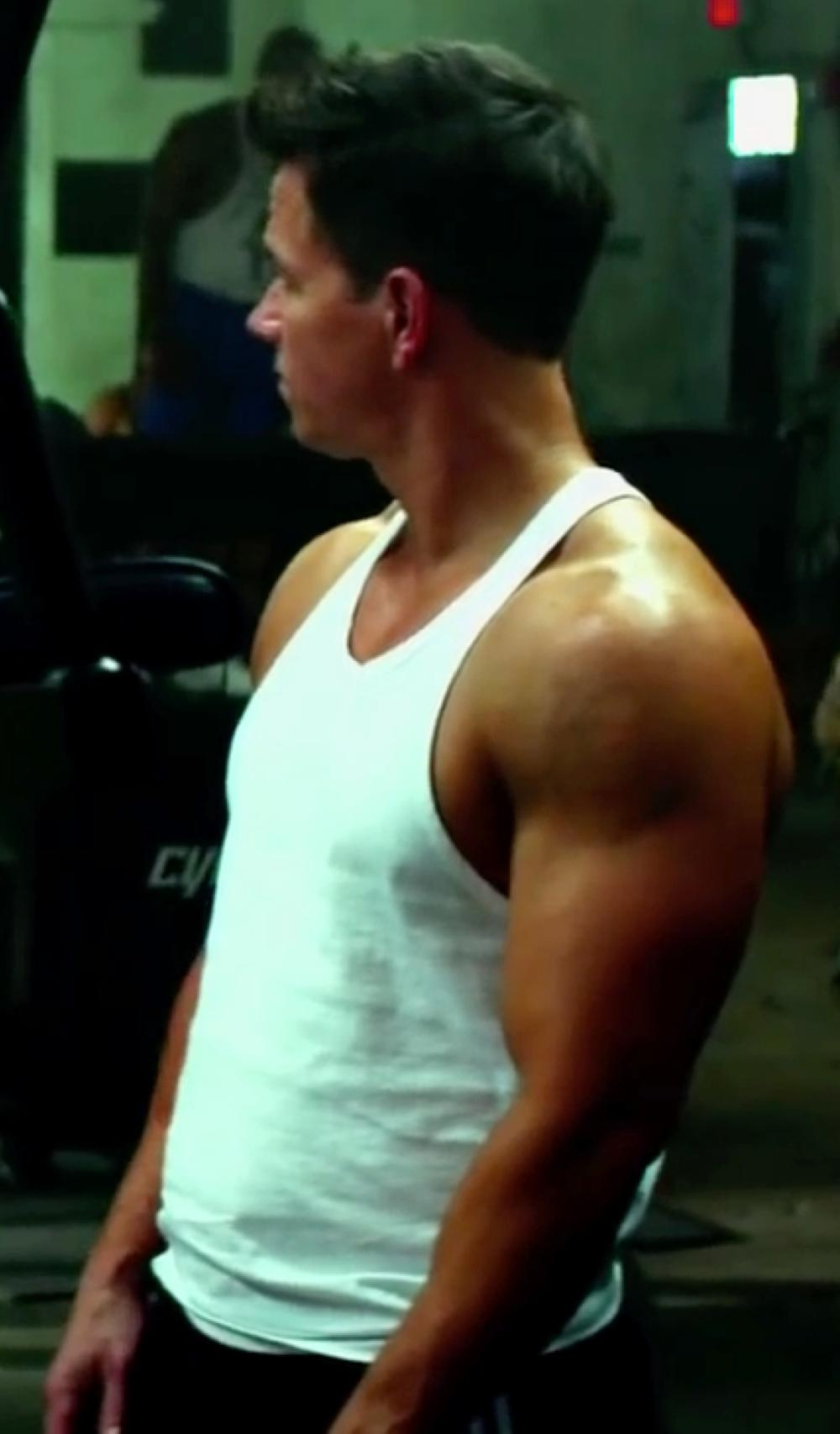 Mark Wahlberg with Cocksox CXActive Racerback Tank Top in Pain & Gain