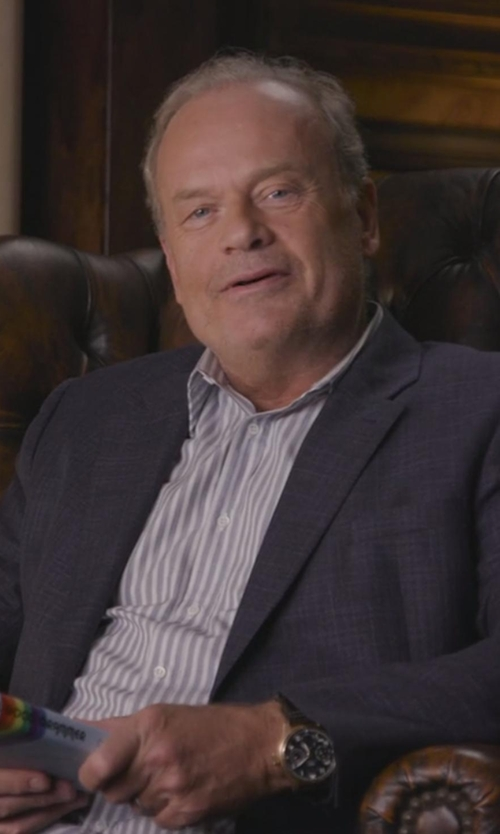 Kelsey Grammer with Banana Republic BR Monogram Plaid Italian Wool Suit Jacket in Chelsea