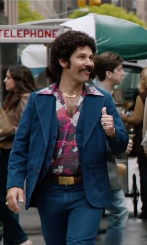 Paul Rudd with Hansen 'Gustav' Denim Blazer in Anchorman 2: The Legend Continues