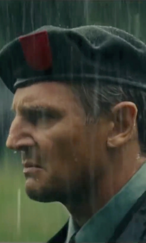 Liam Neeson with Polo Ralph Lauren US Olympic Team Logo Beret in The A-Team
