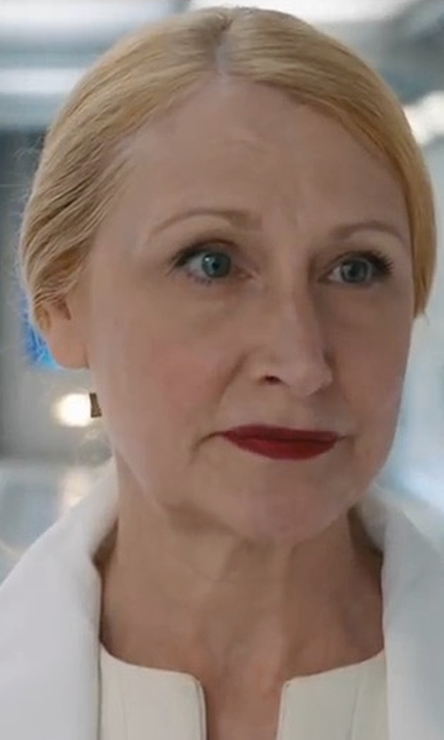 Patricia Clarkson with Mango Structured Wool Coat in Maze Runner: The Death Cure