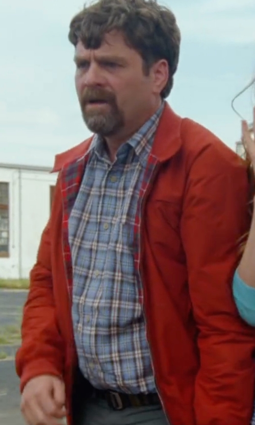 Zach Galifianakis with Polo Ralph Lauren Hooded Anorak Jacket in Keeping Up with the Joneses