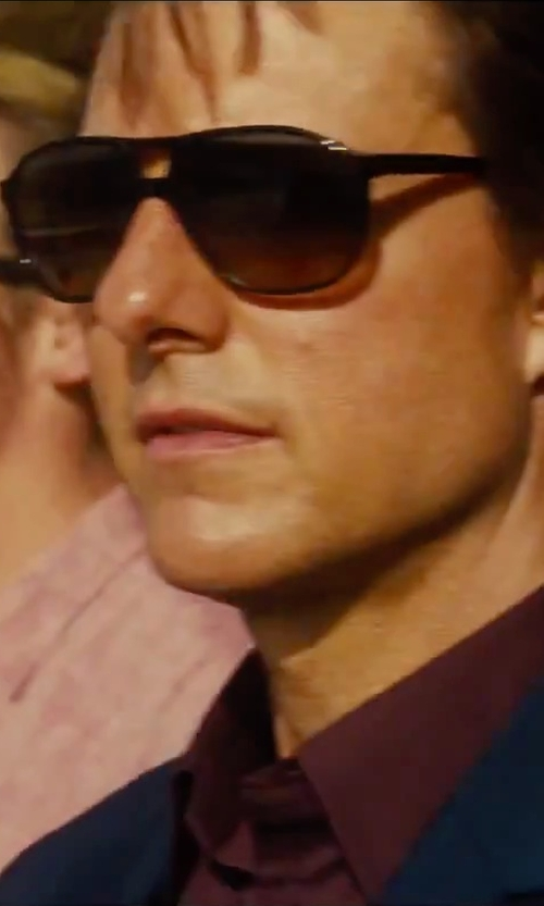 Tom Cruise with L. G. R. Tangeri Aviator Sunglasses in Mission: Impossible - Rogue Nation