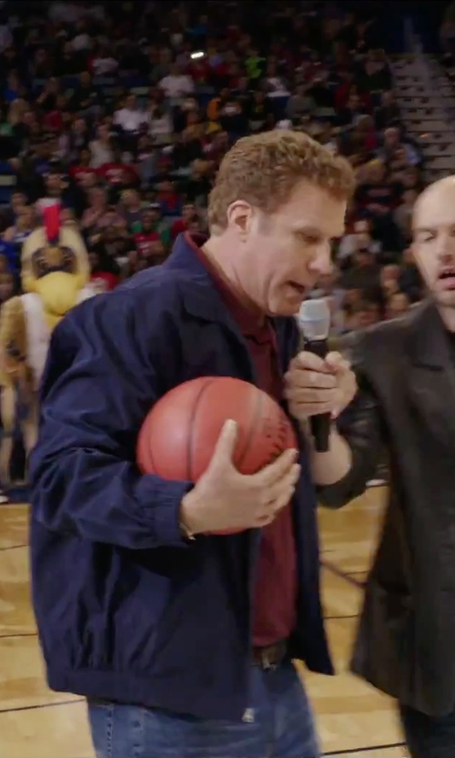 Will Ferrell with Spalding NBA Official Game Basketball Ball in Daddy's Home