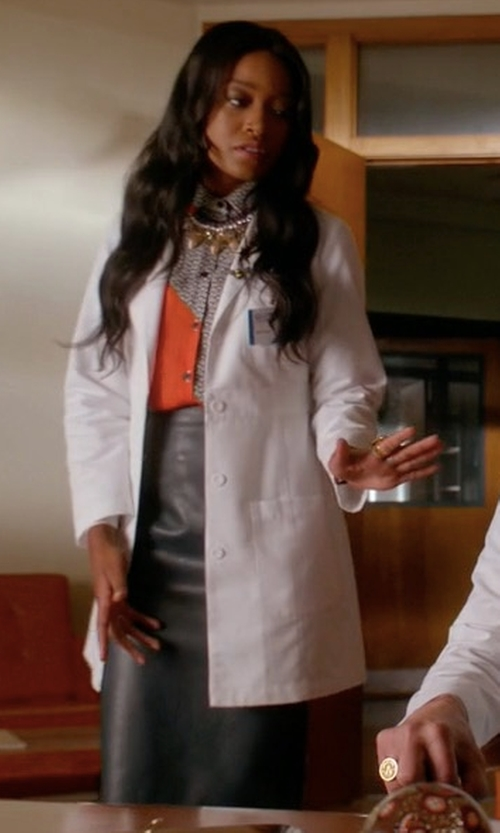 Keke Palmer with Brock Collection Snow Skirt in Scream Queens