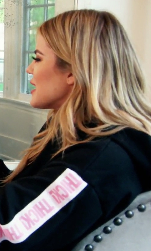 Khloe Kardashian with Kylie Thick! Elastic Band Hoodie in Keeping Up With The Kardashians