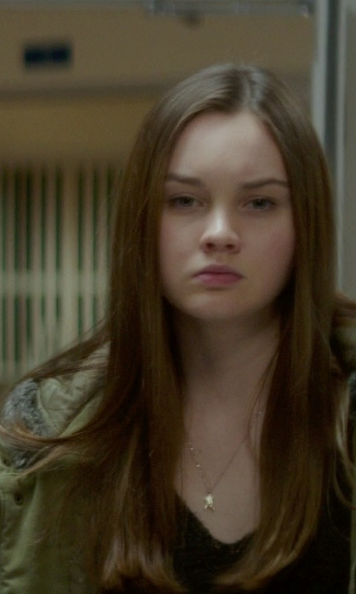 Liana Liberato with Forever21 Faux Fur Parka Jacket in If I Stay