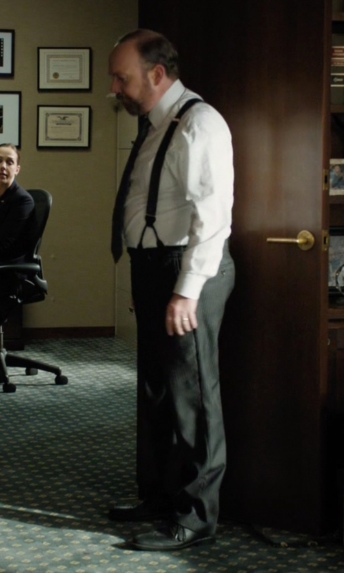 Paul Giamatti with Cole Haan Cambridge Plain-Toe Oxford Shoes in Billions