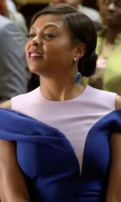 Taraji P. Henson with Christian Dior Sheath Dress in Empire
