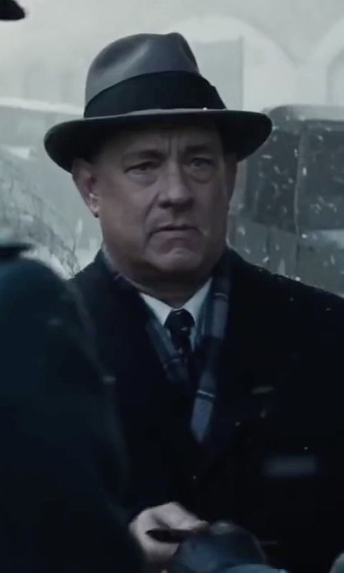 Tom Hanks with Woolrich Water Repellent Wool Felt Fedora in Bridge of Spies