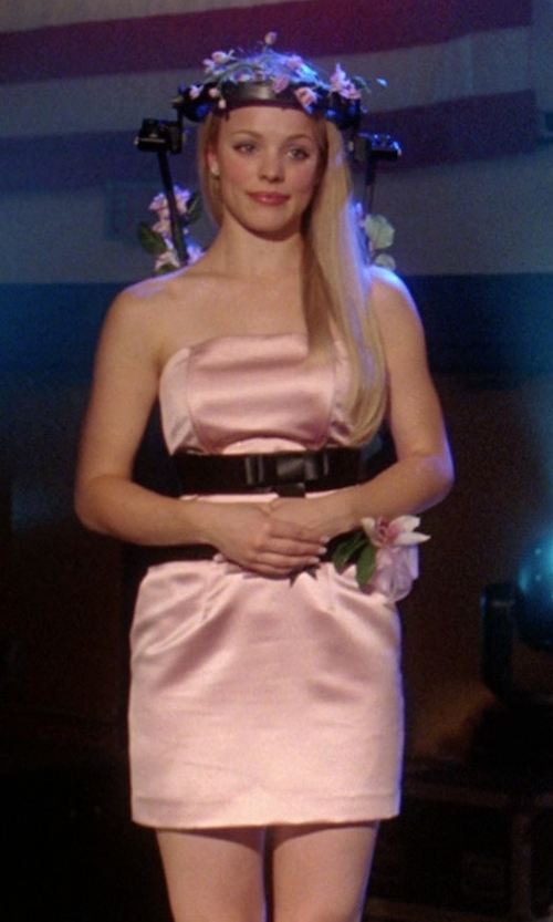 Rachel McAdams with Shoshanna Julianna Strapless Faille Dress in Mean Girls