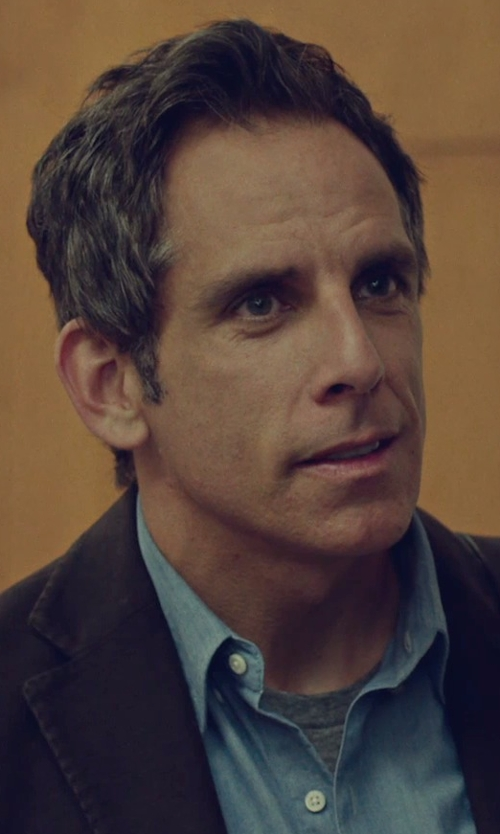 Ben Stiller with Express Exp Core Crew Neck Tee Shirt in While We're Young