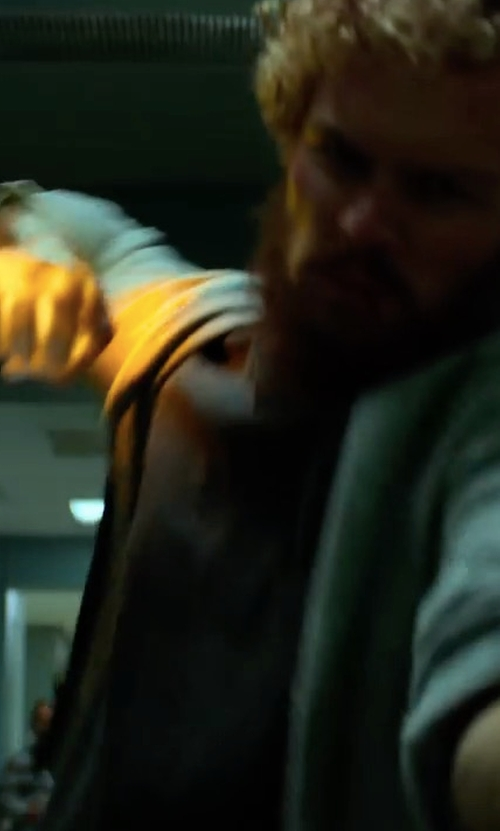 Finn Jones with John Varvatos Star USA Slub Terry Zip-Front Hoodie in Marvel's Iron Fist