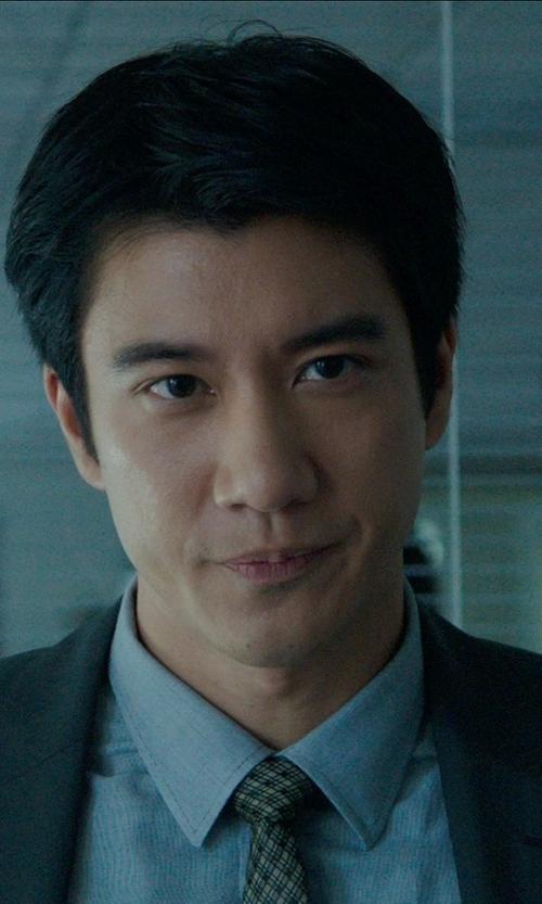 Leehom Wang with Boss Hugo Boss 'Jacob' Slim Fit Easy Iron Dress Shirt in Blackhat